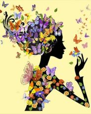 Бабочки Феи - Картина раскраска