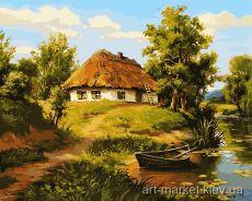 Батьківська хатина - Картина-раскраска